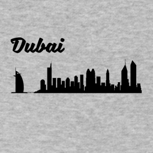 Dubai Skyline - Men's V-Neck T-Shirt by Canvas