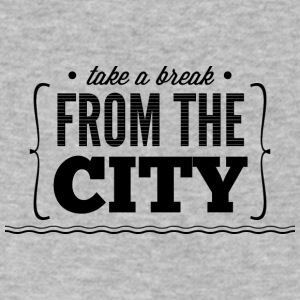 take_e_break_from_the_city - Men's V-Neck T-Shirt by Canvas