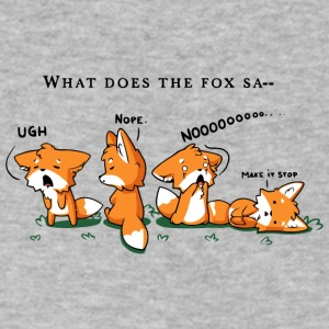 Foxes Say NO - Men's V-Neck T-Shirt by Canvas