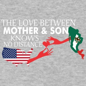 Mother & Son Love Knows No Distance US & Mexico - Men's V-Neck T-Shirt by Canvas