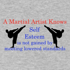 A Martial Arts Knows #1 - Kicks - Men's V-Neck T-Shirt by Canvas