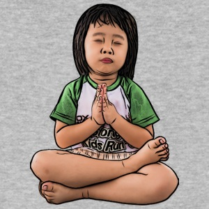 little girl praying and meditating people wishing - Men's V-Neck T-Shirt by Canvas