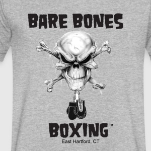 Bare Bones Boxing Logo - Men's V-Neck T-Shirt by Canvas