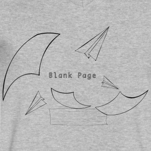 Blank Page Papers Flying - Men's V-Neck T-Shirt by Canvas