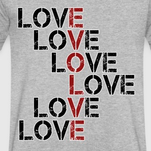 Evolve in Love - Men's V-Neck T-Shirt by Canvas