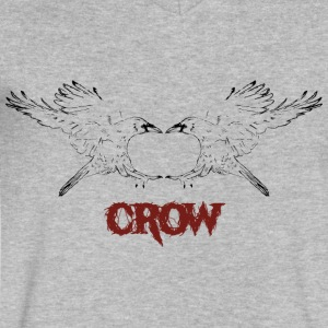 Mirror Crow - Men's V-Neck T-Shirt by Canvas
