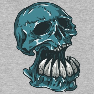 skull_with_hude_theeth - Men's V-Neck T-Shirt by Canvas