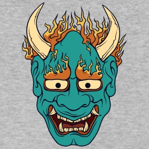 demon_with_burning_hairs - Men's V-Neck T-Shirt by Canvas