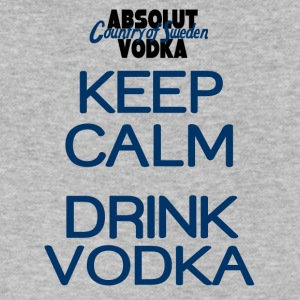 Keep calm drink vodka - Men's V-Neck T-Shirt by Canvas