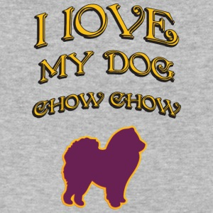 I LOVE MY DOG Chow Chow - Men's V-Neck T-Shirt by Canvas