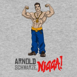 Arnold Schwarzenegger Schwarze nigga! - Men's V-Neck T-Shirt by Canvas