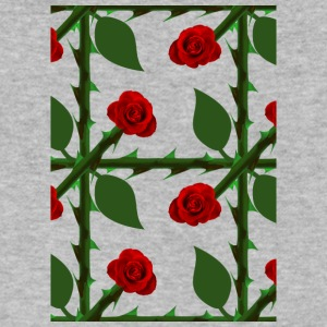 Red Rosen Pattern - Men's V-Neck T-Shirt by Canvas
