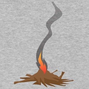 Native American Fire Indian awesome vector art - Men's V-Neck T-Shirt by Canvas