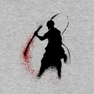 Samurai Supure - Red - Men's V-Neck T-Shirt by Canvas