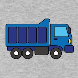 Big Blue Truck - Men's V-Neck T-Shirt by Canvas