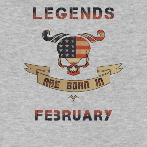Legends are born in february - Men's V-Neck T-Shirt by Canvas