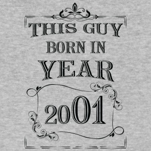 this guy born in year 2001 black - Men's V-Neck T-Shirt by Canvas