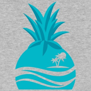 Island Pineapple - Men's V-Neck T-Shirt by Canvas