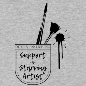 Support a Starving artist (2) - Men's V-Neck T-Shirt by Canvas