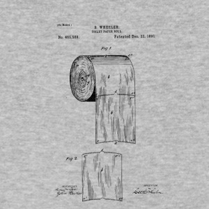 Toilet paper patent - Men's V-Neck T-Shirt by Canvas