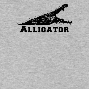 Alligator with Open Mouth - Men's V-Neck T-Shirt by Canvas