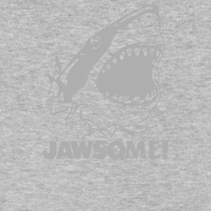 funny vintage soft Jawesome Jaws copy - Men's V-Neck T-Shirt by Canvas