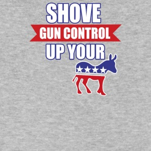 Shove Gun Control Up Your Ass - Men's V-Neck T-Shirt by Canvas