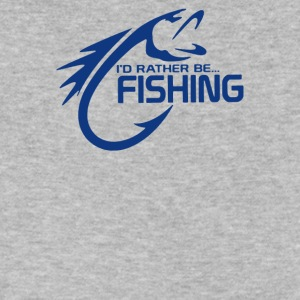 I d Rather BeFishing - Men's V-Neck T-Shirt by Canvas
