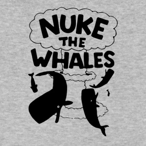 NUKE THE WHALES AWESOME - Men's V-Neck T-Shirt by Canvas