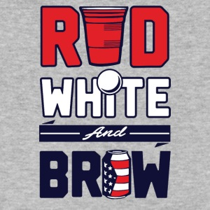 red white and brew - Men's V-Neck T-Shirt by Canvas
