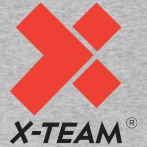 X Team Two Colour Vertical HIRES 624x695 - Men's V-Neck T-Shirt by Canvas
