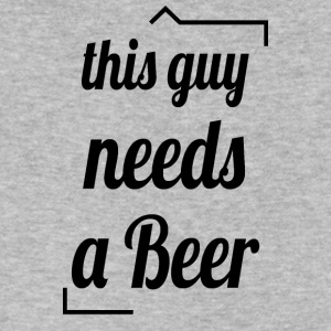 This guy needs a beer - Men's V-Neck T-Shirt by Canvas
