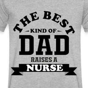 Fathers day gift nurse - Men's V-Neck T-Shirt by Canvas