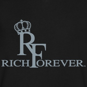 Rich forever 11 - Men's V-Neck T-Shirt by Canvas