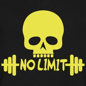 No Limit / Bodybuilding / Skull - Men's V-Neck T-Shirt by Canvas