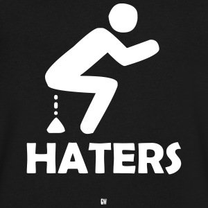 Shitting On Haters - Men's V-Neck T-Shirt by Canvas