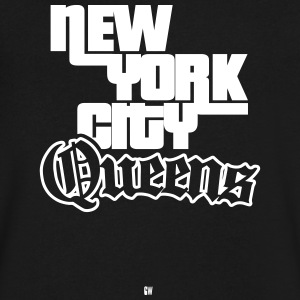 NYC: Queens - Men's V-Neck T-Shirt by Canvas