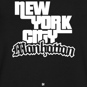 NYC: Manhattan - Men's V-Neck T-Shirt by Canvas