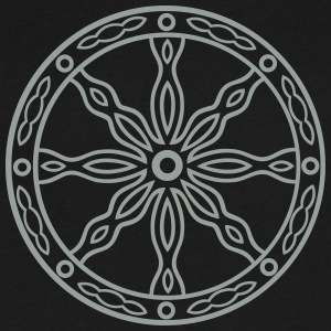 Nordic mythology, midsummer sun wheel - Men's V-Neck T-Shirt by Canvas