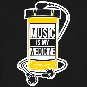 Music is my medicine - Men's V-Neck T-Shirt by Canvas