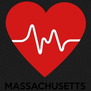 Heart Massachusetts - Men's V-Neck T-Shirt by Canvas