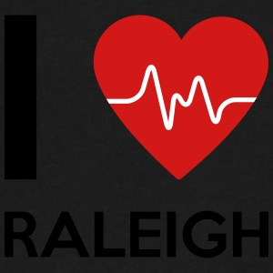 I Love Raleigh - Men's V-Neck T-Shirt by Canvas