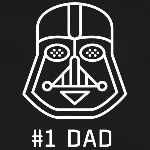 dad Father vader fatherday number One best Great f - Men's V-Neck T-Shirt by Canvas