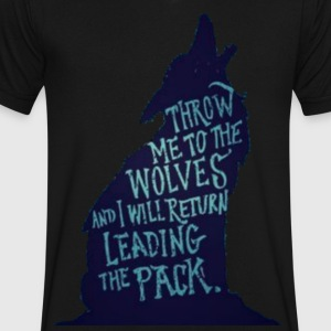 Wolf Pack Quote - Men's V-Neck T-Shirt by Canvas