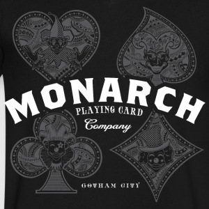 Monarch Playing Cards - Men's V-Neck T-Shirt by Canvas
