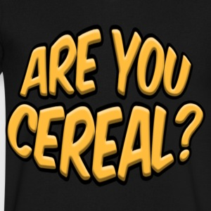 ARE YOU CEREAL? - Men's V-Neck T-Shirt by Canvas