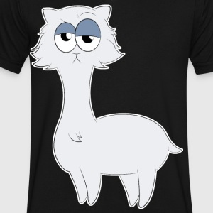 Grumpy Persian Cat Llama - Men's V-Neck T-Shirt by Canvas