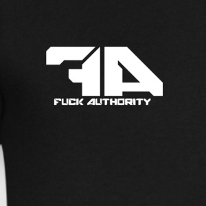 Fuck Authority. - Men's V-Neck T-Shirt by Canvas