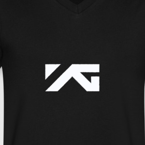 YG Entertainment White Logo Design - Men's V-Neck T-Shirt by Canvas
