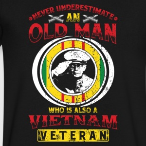 Vietnam Veteran! USA! Proud! - Men's V-Neck T-Shirt by Canvas